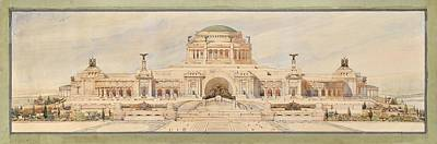 Front Elevation For A Monument To The Unknown Soldier, Antonio Sciortino Art Print by Celestial Images