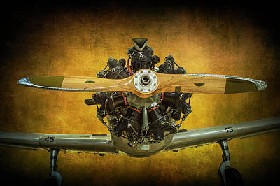 Front End Of A Fairchild Pt-23 Cornell Monoplane Trainer Art Print by Randall Nyhof