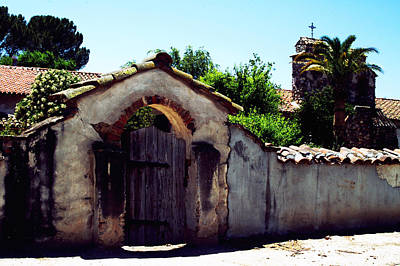 Photograph - Front Gate -mission San Miguel by Gary Brandes