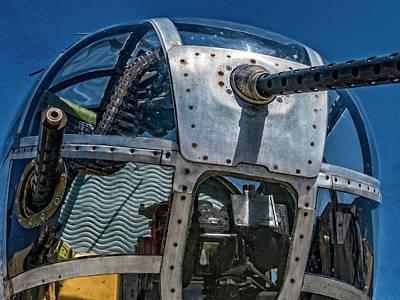 Photograph - b-25 Pacific Princess Front Gun by Sandra Selle Rodriguez