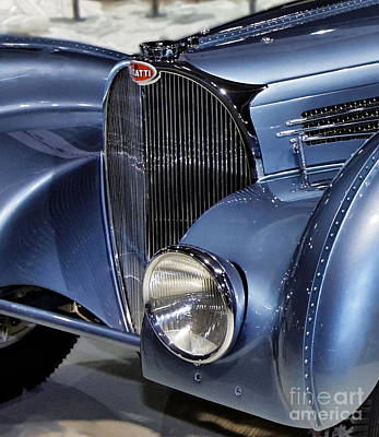 Headlight Mixed Media - Front Of Bugatti  by Garland Johnson