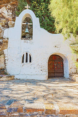 Photograph - Front Of Small Greek Orthodox Chapel by Marek Poplawski