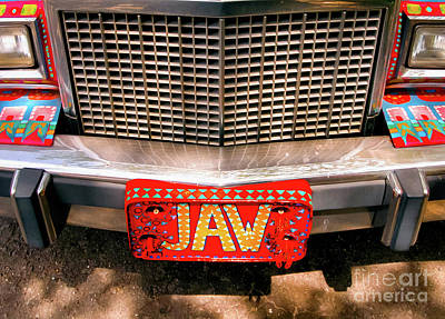 Photograph - Front Of The Car - Grill And Plate by Kathleen K Parker