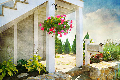 Flower Planter Photograph - Front Porch by Diana Angstadt