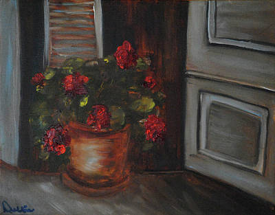 Painting - Front Porch Flowers by Debbie Frame Weibler