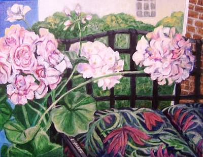 Painting - Front Porch Flowers by Laura Aceto