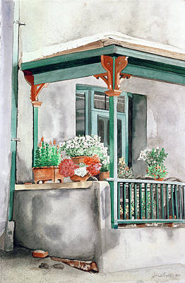 Painting - Front Porch by Jean Sumption