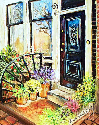 Painting - Front Porch by Linda Shackelford