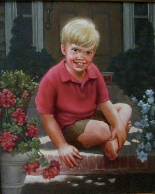Front Porch Portrait Art Print
