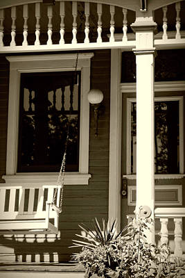 Photograph - Front Porch Victorian by Ann Powell