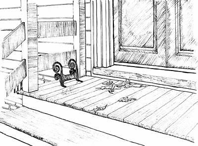 Front Porch With Boot-scraper Art Print
