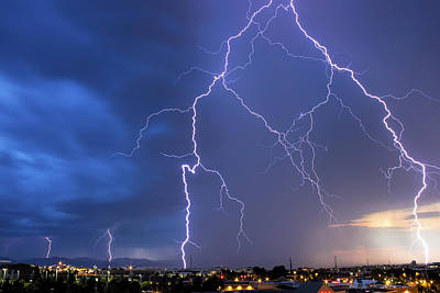 Front Range Lightning Art Print by Dave Crowl
