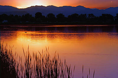 Water Photograph - Front Range Sunset by Brian Kerls