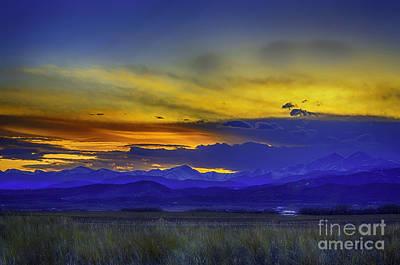 Photograph - Front Range Sunset by Jon Burch Photography