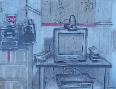 Drawing - Front Room by Liz Adkinson