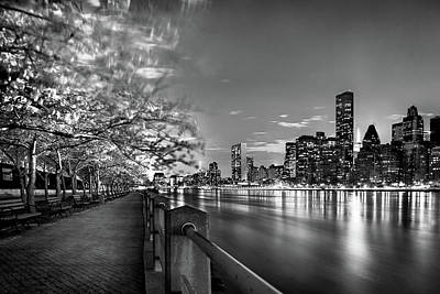 Park Bench Photograph - Front Row Roosevelt Island by Az Jackson