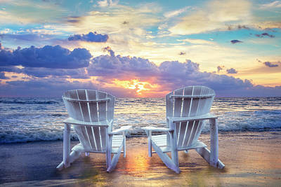 Photograph - Front Row Seats At Sunrise by Debra and Dave Vanderlaan