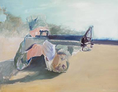 Semper Fi Painting - Front Sight Post by Amanda Schwartz