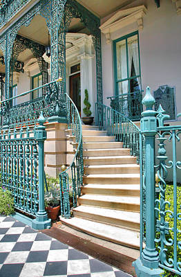 Front Steps To John Rutledge Home Art Print by Steven Ainsworth