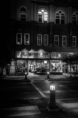 People Photograph - Front Street Crossing In Black And White by Greg Mimbs