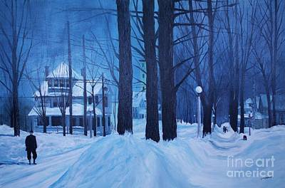 Snow Drifts Painting - Front Street In The '50s by Tim Lindquist
