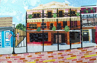 Natchitoches Tapestry - Textile - Front Street- My Favorite Block by Charlene White