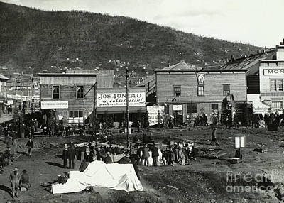 Front Street Of Dawson City Art Print by Photo Researchers