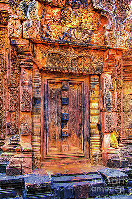 Photograph - Front Temple Door by Rick Bragan