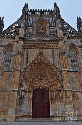 Photograph - Front View Of Batalha Monastery. Portugal by Angelo DeVal