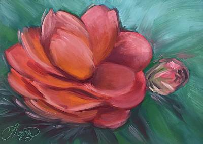 Painting - Front Yard Camellia by Gema Lopez