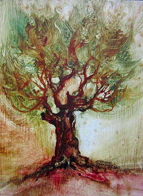 Painting - Front Yard Tree by Monique Montney