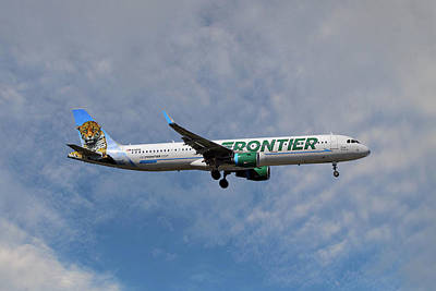 Frontier Airbus A321-211 Art Print