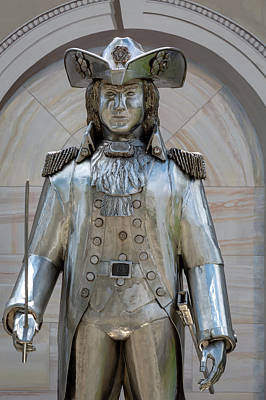 Photograph - Frontier Soldier Statue by Jack R Perry