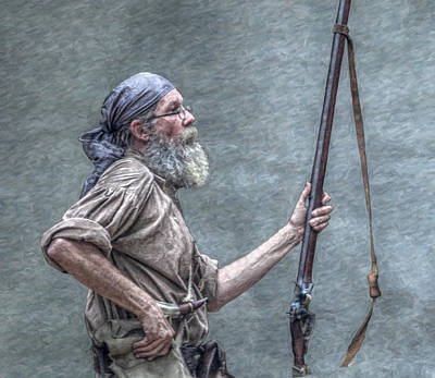 Frontiersman Face Of Time Art Print by Randy Steele