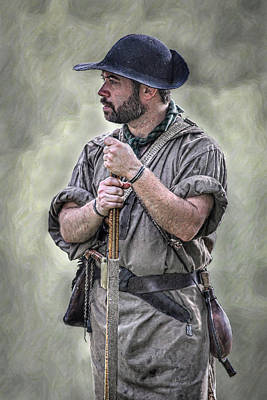 Historical Digital Art - Frontiersman Ranger Scout Portrait by Randy Steele