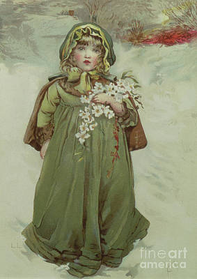 Nineteenth Century Painting - Frontispiece From Christmas Roses by Lizzie Mack