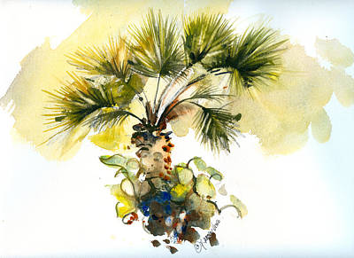 Painting - Frorida Fan Palm by P Anthony Visco