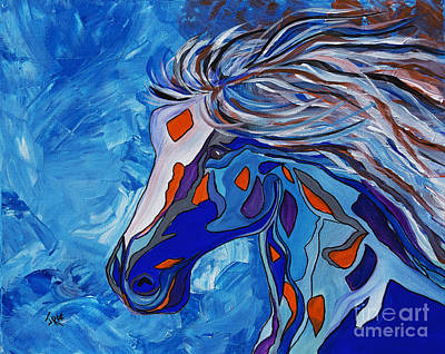 Frost Abstract Horse Original by Janice Rae Pariza