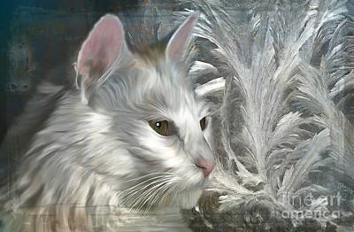 Digital Art - Frost And Fur 2015 by Kathryn Strick