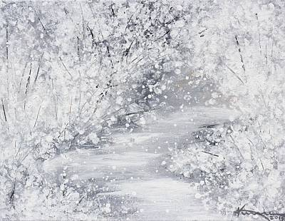 Mystical Landscape Painting - Frost And Snow by Kume Bryant