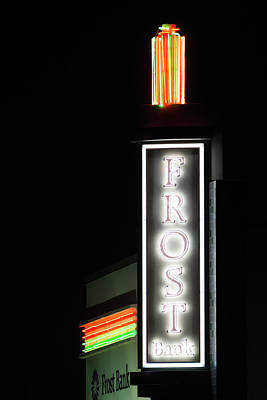 Photograph - Frost Bank Fort Worth Marquee by Rospotte Photography
