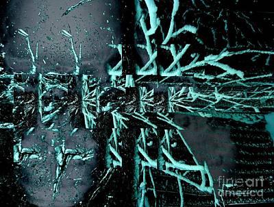 Digital Art - Frost Bite Falls by T Bork