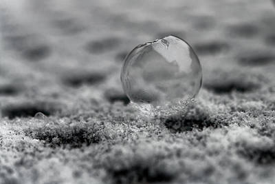 Photograph - Frost Bubble by Richard Keer