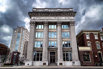 Downtown Nashville Photograph - Frost Building - Baptist Sunday School Board by Stephen Stookey