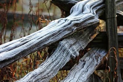 Split Rail Fence Photograph - Frost Fence by Debbie Oppermann