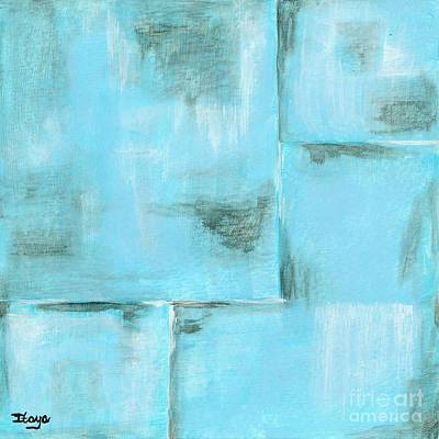 Pittsburgh According To Ron Magnes - Frost Abstract Expressionism Painting  by Itaya Lightbourne