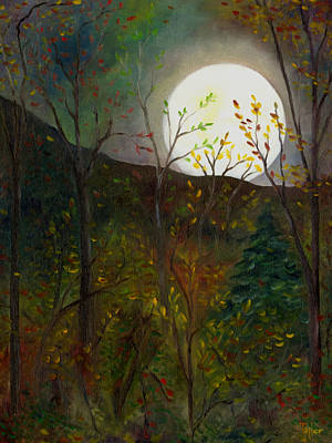 Frost Moon Art Print by FT McKinstry