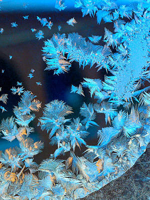 Photograph - Frost Patterns On Window 4 by Victor Kovchin
