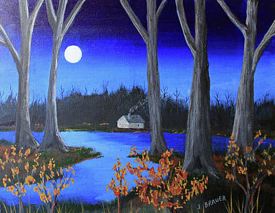Painting - Frost Tonight by Jack G Brauer