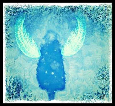 Frosted Angel Art Print by Christine Paris